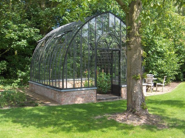 completed wrought iron greenhouse DBG Classics